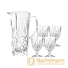 Nachtmann 貴族五件組(果汁壺H23.2cm+4入高腳杯)-Noblesse