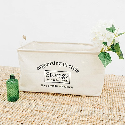【收納職人】日式簡約帆布混麻無蓋收納/洗衣/置物提籃-Storage