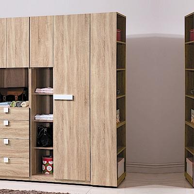 AS-伍德系統1尺衣櫥邊櫃-30*60*197cm