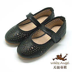 天使童鞋 瑪格麗特洞洞公主鞋 JU87-04 黑