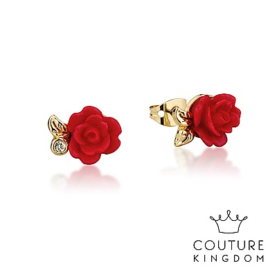 Disney Jewellery by Couture Kingdom 永生玫瑰花鍍金耳釘
