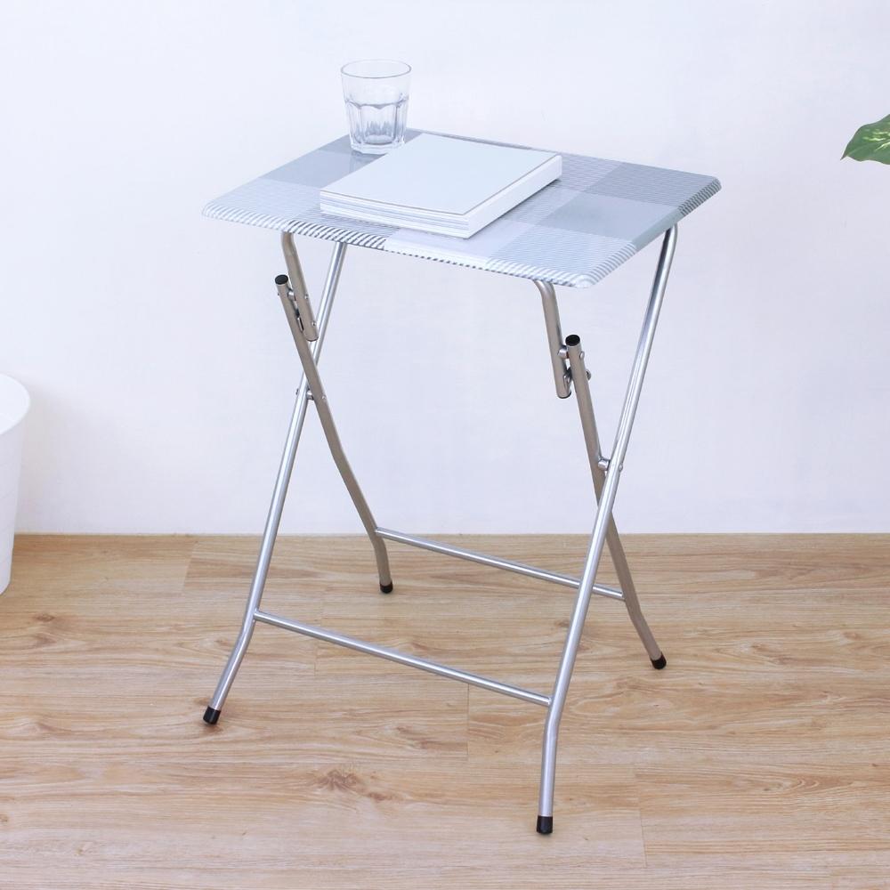 頂堅 高66公分-小型折疊桌 休閒摺疊桌 野餐露營桌 便利拜拜桌 折合邊桌-二色
