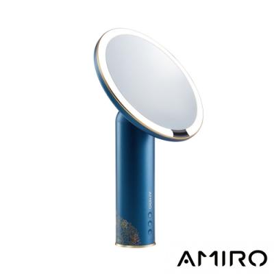 AMIRO x 故宮聯名 O 系列高清日光化妝鏡(無線充電版)禮盒組 - 故宮藍