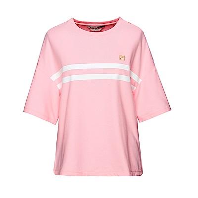 FILA 女款圓領短袖T恤-粉色 5TET-1708-PK