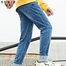 SEMIR森馬-寬鬆直筒牛仔長褲-男