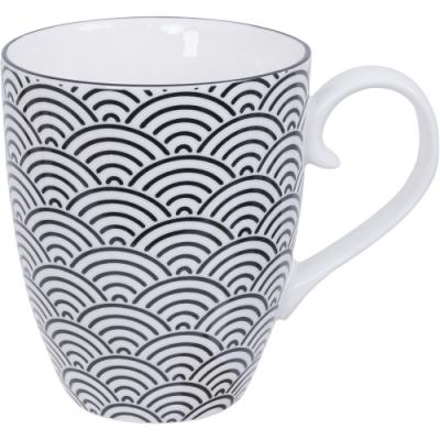 《Tokyo Design》瓷製馬克杯(浪紋黑325ml)