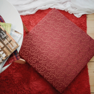 絲薇諾 MIT太空記憶坐墊-貴族紅 54×56cm