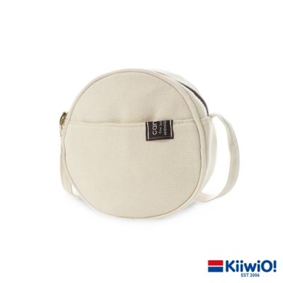 Kiiwi O! 日系百搭帆布兩用圓圓包 DORIS 米