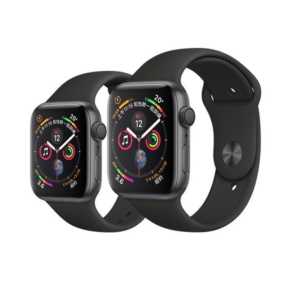 Apple Watch S4 44mm GPS版 太空灰色鋁金屬錶殼配黑色運動型錶帶 @ Y!購物