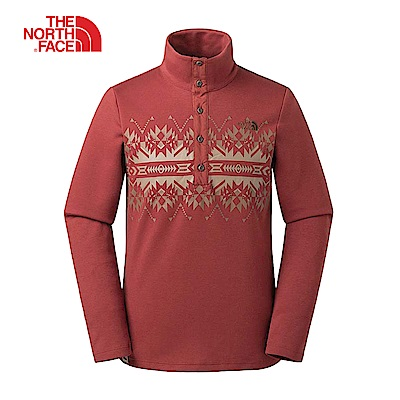 The North Face北面男款紅色舒適透氣印花上衣|3L7E2V5