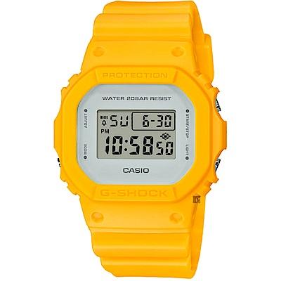 CASIO 卡西歐 G-SHOCK DW-5600 經典電子錶-黃 DW-5600CU-9