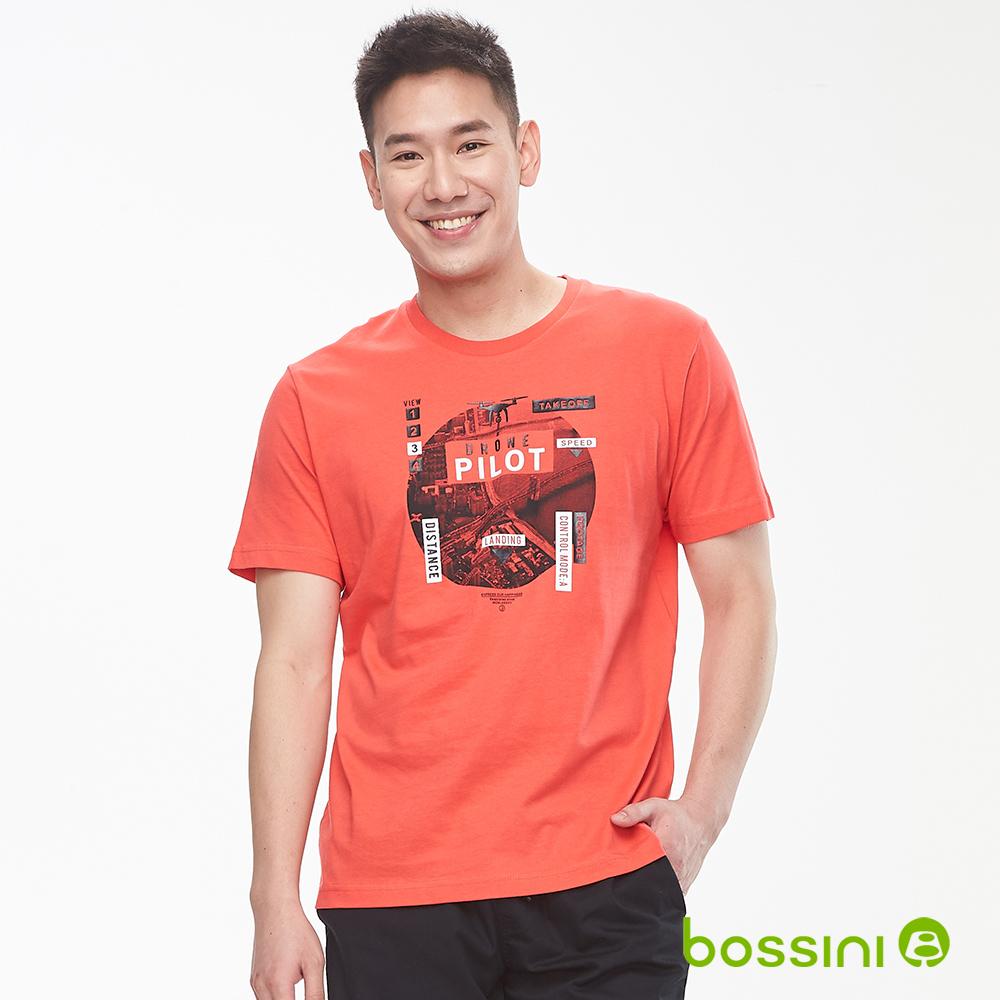 bossini男裝-印花短袖T恤24橘