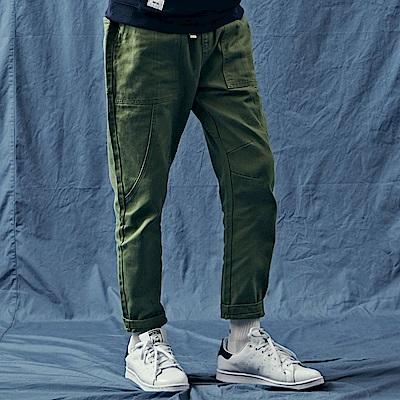CACO-201復古小腳褲-情侶款(兩色)-男【QNA087】
