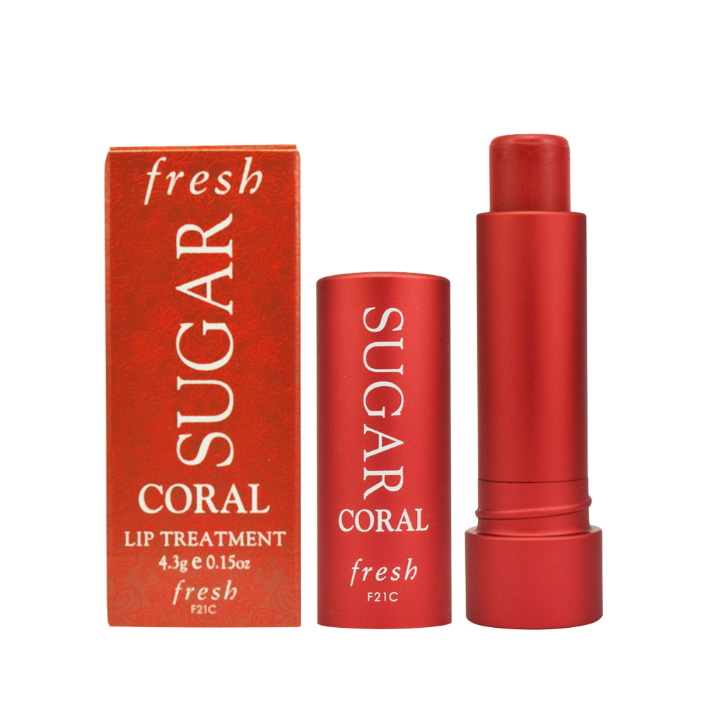 fresh 黃糖潤色護唇膏 #珊瑚橙紅 4.3g 國際限定版