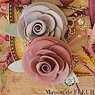 Maison de FLEUR 精緻玫瑰花造型零錢包