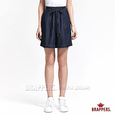 BRAPPERS 女款 Boy Friend 系列-鴿子裝飾袋天絲棉短褲-藍