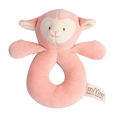 miYim有機棉手搖鈴-喜寶羊羊