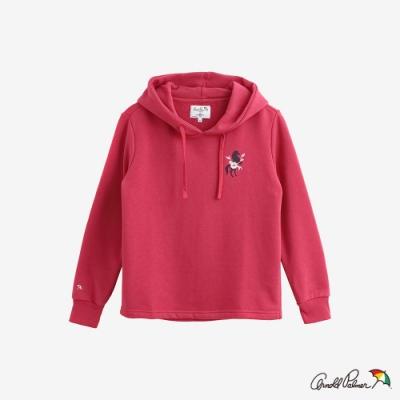 Arnold Palmer -女裝-小LOGO主題刺繡帽T-桃紅色