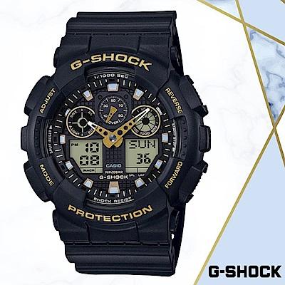 CASIO卡西歐G-SHOCK無限精神(GA-100GBX-1A9)黑色/51MM