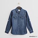 Hang Ten - 女裝 - 刷色牛仔襯衫- 藍