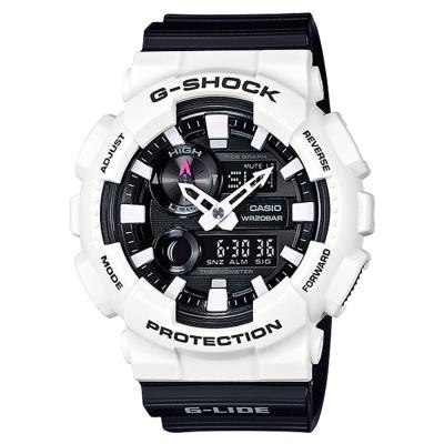 G-SHOCK流行玩家先驅潮汐月相衝浪運動錶(GAX-100B-7A)白X黑面51.2mm