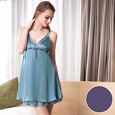 華歌爾睡衣-性感 M-L 裙裝(紫)