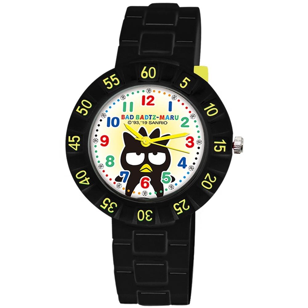 Sanrio三麗鷗 數字轉圈系列手錶酷企鵝34mm黑色