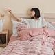 翔仔居家 台灣製 頂級長絨棉 色織雙層紗系列 薄被套&床包3件組-野櫻粉 (單人) product thumbnail 1