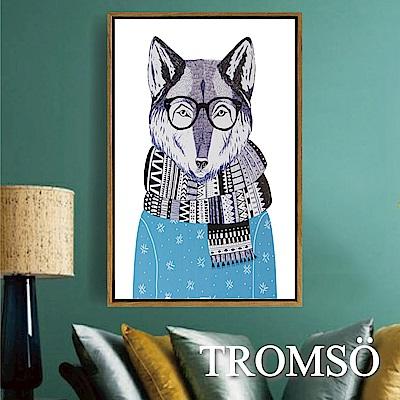 TROMSO北歐風尚板畫有框畫-狐狸先生40X60CM
