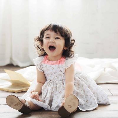 MARLMARL兒童用餐圍裙 女孩/小粉花(Baby 80-90cm)