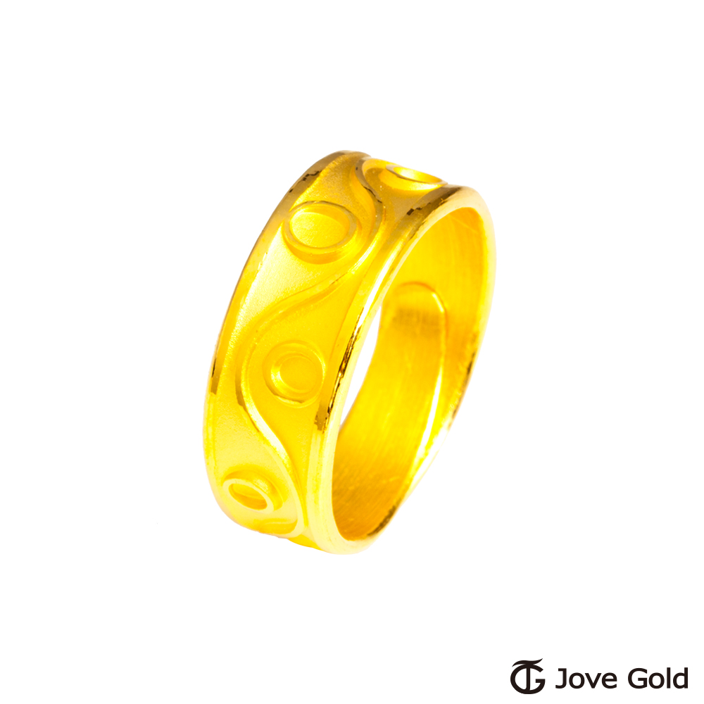 Jove Gold 漾金飾 美好旋律黃金男戒指