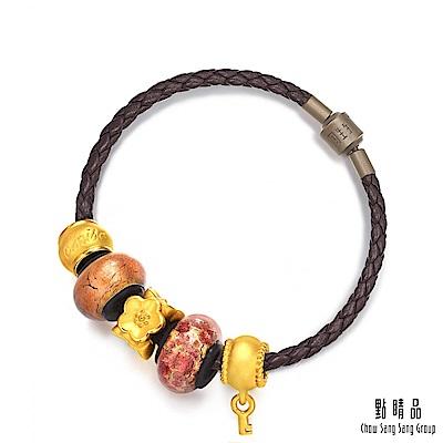 點睛品-Charme-黃金串飾MuranoGlass彩色琉璃珠手鍊-「可愛女人」