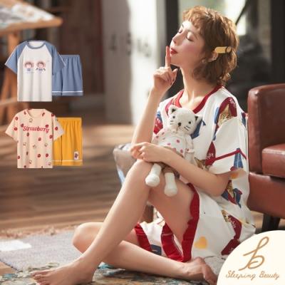 Sleeping Beauty 日系清新兩件式造型居家套裝-三款可選