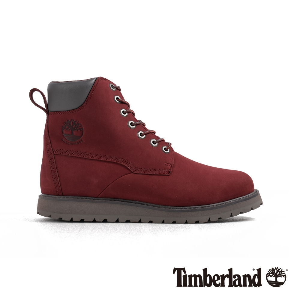 Timberland 男款深紅色磨砂革休閒靴|A29HN