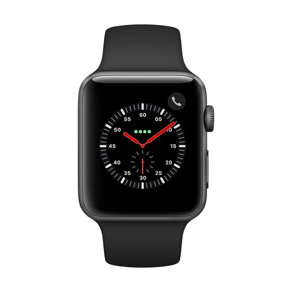 [無卡分期-12期Apple Watch S3(GPS+網路)42mm 太空灰鋁+黑色錶帶
