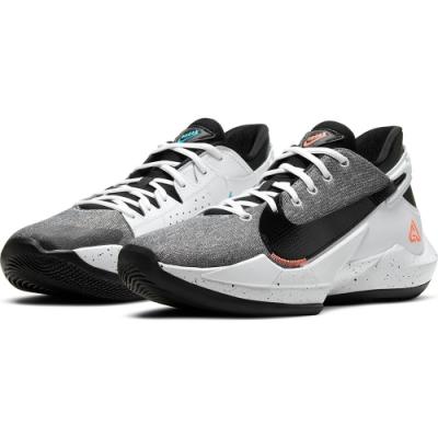 NIKE 籃球鞋 運動鞋 包覆 緩震 男鞋 灰白 CK5825101  ZOOM FREAK 2 EP