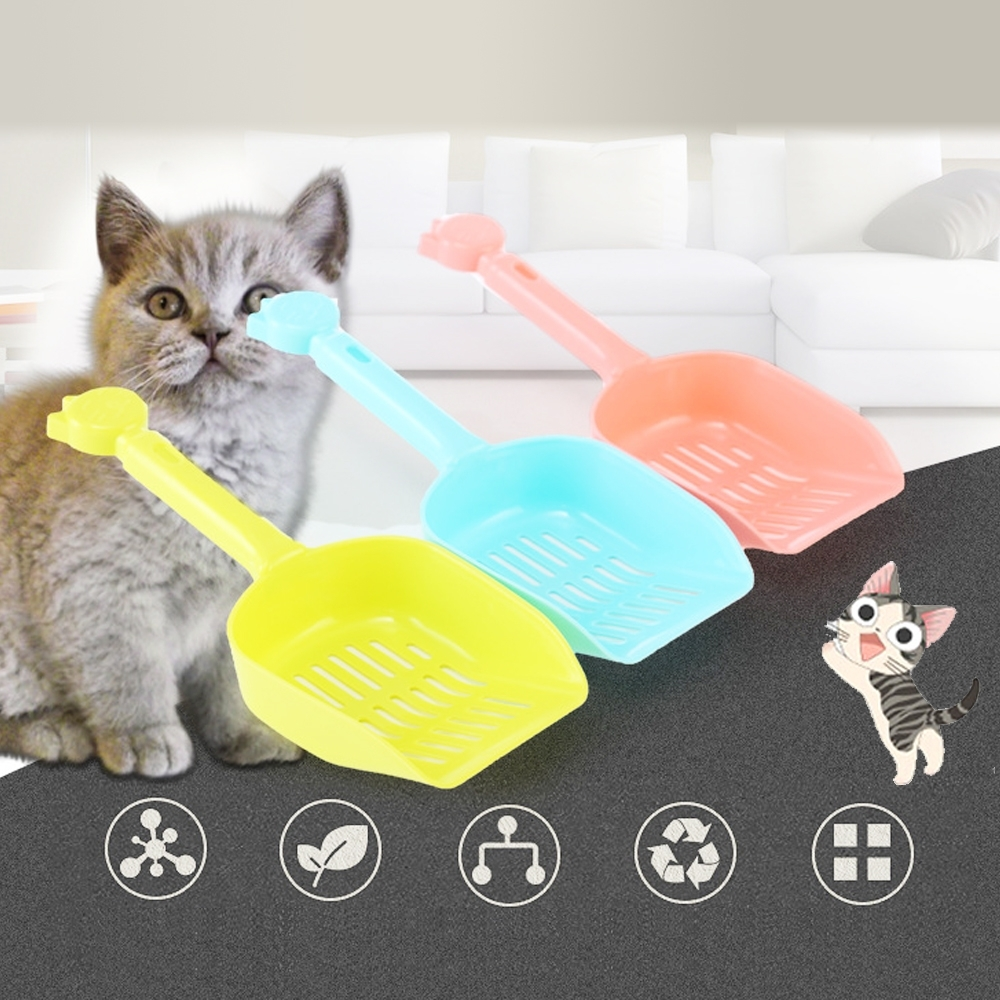 dyy》貓臉造型抗菌貓砂鏟隨機出貨1支 (8.5cm*12cm)