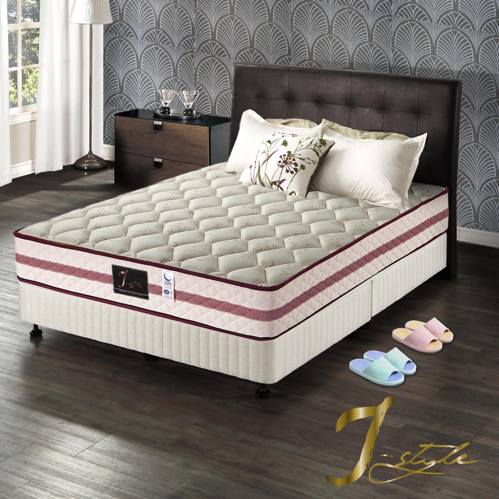 J-style婕絲黛 頂級飯店款涼感紗蜂巢式獨立筒床墊 雙人加大6x6.2尺