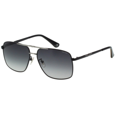 POLICE 太陽眼鏡 (黑配銀)SPLA34J