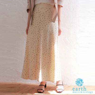 earth music 氣質印花/素面長裙