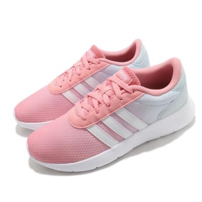 adidas 慢跑鞋 Lite Racer 運動 女鞋 愛迪達 輕量 透氣 舒適 避震 穿搭 粉 白 FX3975
