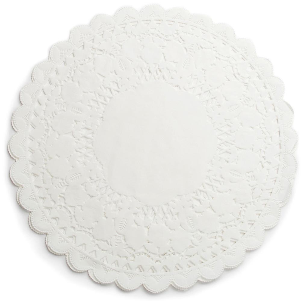 《FOXRUN》12吋蕾絲花邊蛋糕紙墊12入(白)