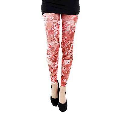 摩達客 英國進口義大利製Pamela Mann 紅薔薇 內搭褲九分褲襪/無足褲襪