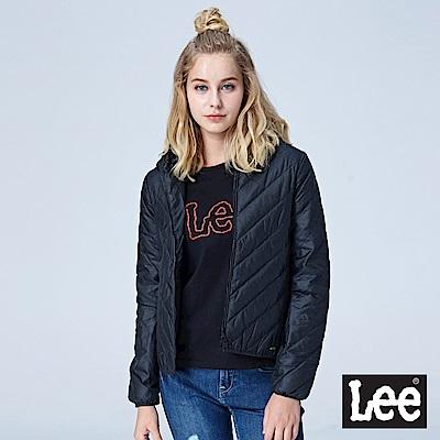 Lee 連帽羽絨外套90%羽絨/RG-黑色