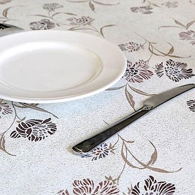 挪威森林 防水防油汙餐桌墊/野餐墊-法式田園手繪設計_祕密花園137*137cm