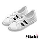 Miaki-休閒鞋復刻經典平底運動鞋-白