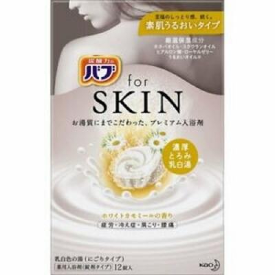 日本品牌 花王KAO forSKIN潤澤入浴碇12碇入-洋甘菊香