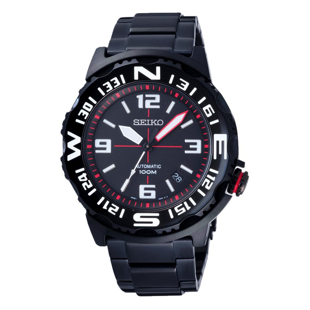 SEIKO 扭轉方向顛峰機械錶(SRP447K1)-黑x白/42mm