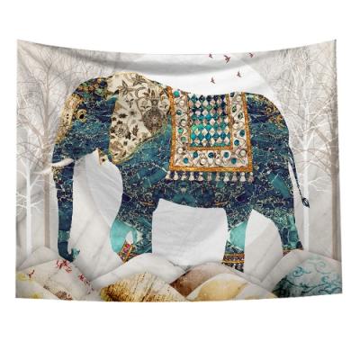 半島良品 北歐風裝飾掛布-大象系列/波希米亞-大象 150x130cm