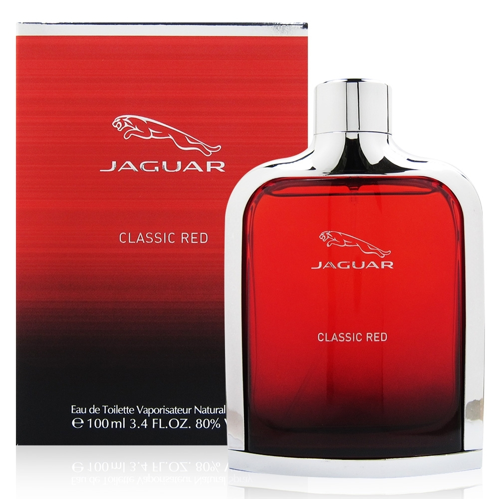 JAGUAR積架 RED紅色捷豹男性淡香水100ml 贈JAGUAR積架鑰匙圈乙份